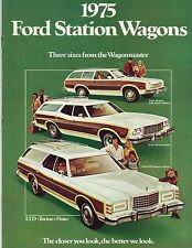 1975 Ford STATION WAGON Brochure : LTD,Country Squire,Gran Torino,Pinto,