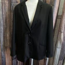 CHICOS Women's Button Black Blazer Size 3 (XL/16)