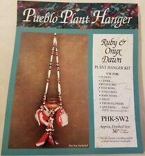 Beaded Pueblo Plant Hanger Native Southwestern Craft Kit Mac Enterprises Vintage