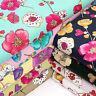 100% Cotton Fabric by Fat Quarters Vintage Flowers Retro Floral Dress Quilt VK62