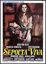 CINEMA-manifesto SEPOLTA VIVA a. belli, l. betti; ALDO LADO