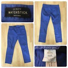 """J CREW Matchstick Size 30 Jeans Inseam 30"""" Elastane 2%"""