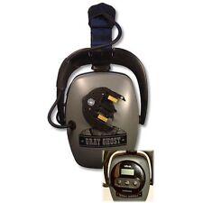 DetectorPro Cordless Gray Ghost Headphones for the XP Deus Metal Detector