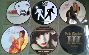 """JOB LOT OF SIX HOUSE / EUROHOUSE 12"""" PICTURE DISC SINGLES"""