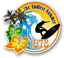 Viejo Retro Tabla de Surf Surf INTERMINABLE verano 1978 Coche Caravana PEGATINA