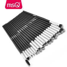 20PCs Eye Makeup Brushes Set Pro Blusher Powder Eyeshadow Eyeliner Lip Brush MSQ
