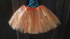 Tutu elastico brillante Naranja para niñas fiesta disfraz Ballet danza 22-36 cms