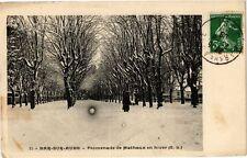 CPA Bar - sur - aube .- Promenade de mathaux en hiver  (197156)