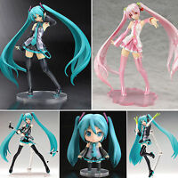 Lovely Anime Vocaloid Hatsune Miku /Sakura PVC Mini Action Figure Figurine Manga