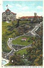 Steps to Battle Mountain Sanitarium Hot Springs South Dakota Postcard