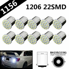 10pcs 12V 1156 BA15S 1206 22SMD White LED Car Backup Reverse Turn Light Lamp