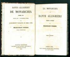 ALLIGHIERI DANTE LA MONARCHIA MARSILIO FICINO BIBLIOTECA COMUNI ITALIANI 1853