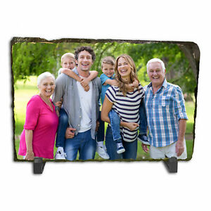 Personalised Custom Photo Picture Rectangle Rock Slate Any Image Text 30 x 20cm