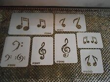 Airbrush Temporary Tattoo Stencil Set 285 Music Notes New by Island Tribal!