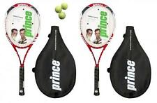 2 x Prince Triple Force Power Ti Tennis Rackets + 3 Balls RRP £170