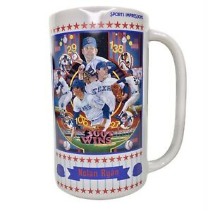 "Vintage  Nolan Ryan ""300 Wins""  Sports Impressions Porcelain Beer Stein 169/1990"