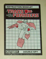 Transformers Double Spy Punch Counterpunch G1 instructions manual booklet JH