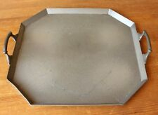Octagonal Craftsman Art Deco Hammered Pewter Tea Tray. Hand Beaten Platter c1930