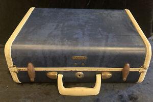 Vintage Samsonite Blue marble Shwayder Suitcase  15X10X7