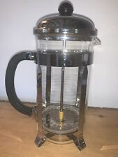 BODUM CHAMBORD CHROME AND GLASS CAFETIERE EXCELLENT USED CONDITION.