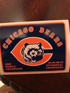 "Chicago Bears 1985 World Champions Vintage  AUTHENTIC STICKER STICKER NFL 4"" X 3"