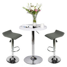 3 Piece Pub Bar Table Set With 2 Bar Stools Counter Top Height Dining Chairs