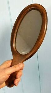 MIRROR GEORGIAN 1805 ANTIQUE HAND VANITY MIRROR OAK MADE IN SCOTLAND