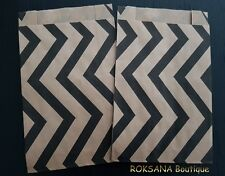 50 Pochettes kraft cadeaux sac sachet papier bijoux emballage brun 12 x 20 cm