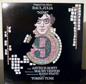 "Maury Yeston & Raul Julia - ""Nine"" Broadway Cast - 1982 US 1st Press NM Vinyl LP"