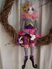 "*New* Cloth Art Doll (Paper) Pattern ""Mirabelle Lady Cat Jester"" By Paula McGee"