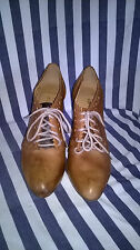 Clarks Software Brown Leather Victorian Style Shoe Boots Size 6