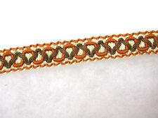 Terre cuite rouge & marron 2cm chaise braid parage par mètre de couture tissu bordure