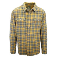prAna Men's Green & Brown L/S Flannel Shirt (S17)
