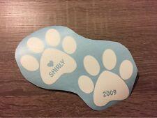 Autoaufkleber Pfote Hund mit oder ohne Name  ca. 15cm x 15cm