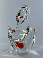 C1960s Antonio da Ros for Cenedese Murano Italy Signed Sommerso Art Glass Swan