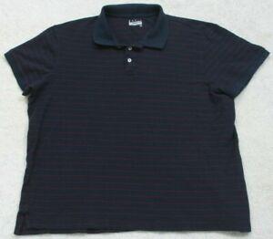 Basic Editions Blue & Red Polo Shirt Short Sleeve 2X XXL Cotton Men's Man's Top