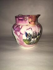 Staffordshire Sunderland Luster Large Pink Mariners Arms Poem Ca. 1840