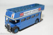 SOLIDO 4402 AEC DOUBLE DECKER VISIT OF LONDON BLUE NEAR MINT CONDITION