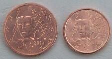 1+2 Euro Cent Frankreich 2014 unz