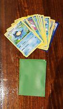 Pokemon cards - 10 random water type +5 sleeves