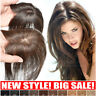 Women's 100% Remy Human Hair Toupee Mono Silk Base Topper Clip In Hairpiece Wigs