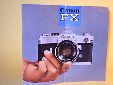 Original(!) Canon FX Sales Brochure 1964 - in Swedish!