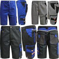Mens Elasticated Work Shorts Cargo Cordura Heavy Duty Knee Pads Pockets Hi Vis