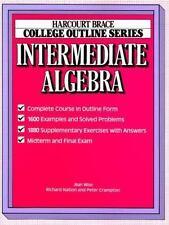 College Outline for Intermediate Algebra (Harcourt Brace Jovanovich College Out