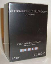 ALESSANDRO DELL ACQUA FOR MAN MEN PERFUME'D DEODORANT BODY SPRAY 50 ML 1.7 OZ