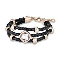 s.Oliver Damen Armband So1000 Edelstahl Leder