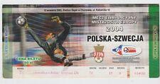 Orig.Ticket   EM Qualifikation  10.09.2003   POLEN - SCHWEDEN / A   !!    SELTEN