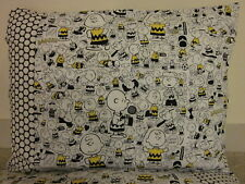 Charlie Brown Snoopy pattern 100% new Cotton handmade Pillowcase one pair