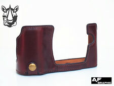 V387a Leather Half Case Cover Grip for Olympus OMD OM-D E-M10 EM10 Camera