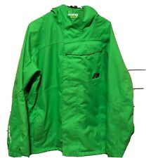 Burton Analog Neon Green Ski Snowboard Jacket Design Unlikely Futures Mens SZ M